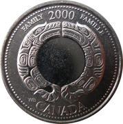 25 cents Millénaire Famille -  revers