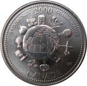 25 cents Millénaire Communauté -  revers