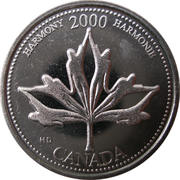 25 cents Millénaire Harmonie -  revers