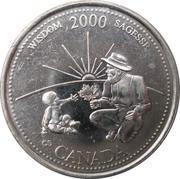 25 cents Millénaire Sagesse -  revers