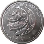 25 cents Millénaire Ingéniosité -  revers
