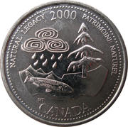25 cents Millénaire Patrimoine naturel -  revers