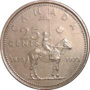 25 cents Elizabeth II (Centenaire de la GRC) -  revers