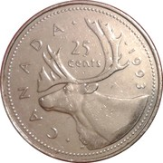 25 cents Elizabeth II (3e effigie) -  revers