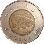 2 dollars Elizabeth II (3ème effigie) -  revers