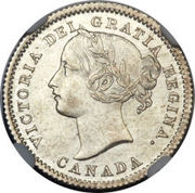 10 cents Victoria – avers