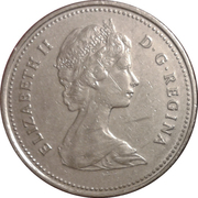 25 cents Elizabeth II (2e effigie) -  avers