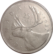 25 cents Elizabeth II (2e effigie) -  revers