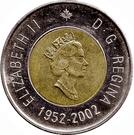 2 dollars Jubilé d'or d'Elizabeth II (1952-2002) – avers