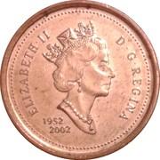 1 Cent - Elizabeth II (Jubilé d'or ; Non-magnétique) -  avers