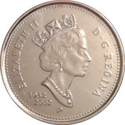 5 cents Jubilé d'or de Elizabeth II -  avers