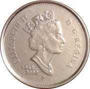 10 cents Jubilé d'or de Elizabeth II -  avers