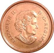 1 cent Elizabeth II (4e effigie, magnétique) – avers