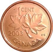 1 cent Elizabeth II (4e effigie, magnétique) -  revers