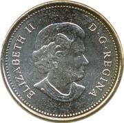 5 cents Elizabeth II (4e effigie, cupronickel) -  avers