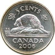 5 cents Elizabeth II (4e effigie, cupronickel) -  revers
