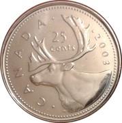 25 cents Elizabeth II (4e effigie) -  revers