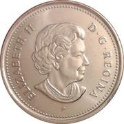 25 cents Elizabeth II (4e effigie) -  avers