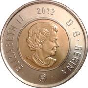 2 dollars Elizabeth II (4ème effigie, date en haut) -  avers