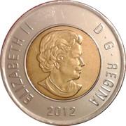 2 dollars Elizabeth II (4ème effigie, micro-gravure au laser) -  avers