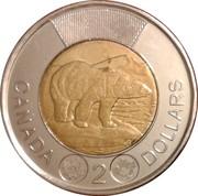 2 dollars Elizabeth II (4ème effigie, micro-gravure au laser) -  revers
