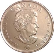 25 cents Coquelicot 2008 (colorée) -  avers