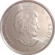 25 cents Ruban rose (colorée) -  avers
