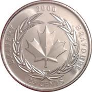25 cents Bravoure -  revers