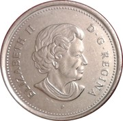 25 cents Acadie -  avers