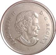 25 cents Acadie -  avers
