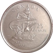 25 cents Acadie -  revers