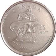 25 cents Acadie -  revers