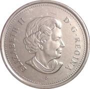 25 cents Centenaire de la Saskatchewan -  avers