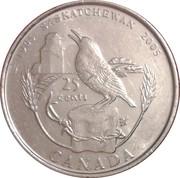 25 cents Centenaire de la Saskatchewan -  revers