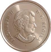 25 cents Coquelicot 2004 (colorée) -  avers
