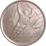 25 cents Hockey masculin -  revers