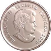 25 cents Cindy Klassen (colorée) -  avers
