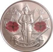 25 cents Coquelicot (colorée) -  revers