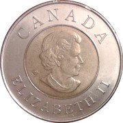 2 dollars Ville de Québec (400ème anniversaire) -  avers
