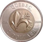 2 dollars Ville de Québec (400ème anniversaire) -  revers