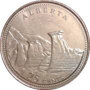 25 cents Alberta -  revers