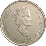 25 cents Janvier 1999 -  avers