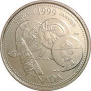 25 cents Janvier 1999 -  revers