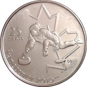 25 cents Vancouver 2010 (Curling) -  revers