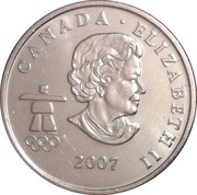 25 cents Vancouver 2010 (Hockey sur glace) -  avers
