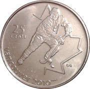25 cents Vancouver 2010 (Hockey sur glace) -  revers
