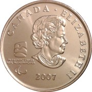 25 cents Vancouver 2010 (Curling paralympique) -  avers