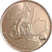 25 cents Vancouver 2010 (Curling paralympique) -  revers