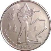25 cents Vancouver 2010 (Biathlon) -  revers