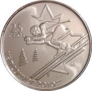 25 cents Vancouver 2010 (Ski alpin) -  revers